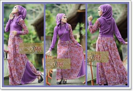 Baju Gamis Blingdizy Violet By Fitria Style Limited Fashion